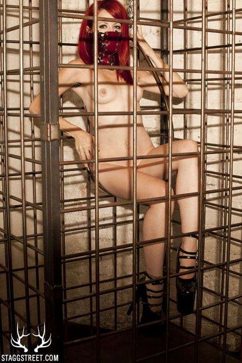 CRASH IN A MASK AND HEELS IN A CAGE